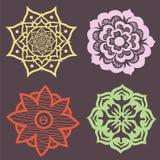 Bloemen mandalaelementen Royalty-vrije Stock Afbeelding