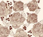 Bloemen manierachtergrond vector illustratie