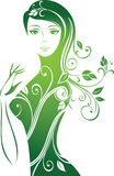 Bloemen meisje Royalty-vrije Stock Foto's