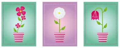 Bloemen met achtergrond Royalty-vrije Stock Foto