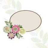 Bloemen met cirkelkader Stock Afbeeldingen