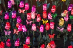 Bloemen met een bericht Royalty-vrije Stock Afbeeldingen