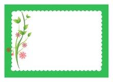 Bloemen met gegratineerde grens Stock Foto's