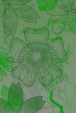 Bloemen met gradiënt Stock Afbeeldingen