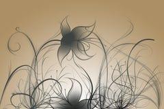 Bloemen met gradiënt Stock Afbeelding