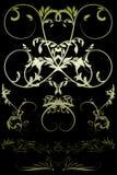 Bloemen met gradiënt Royalty-vrije Stock Foto