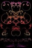 Bloemen met gradiënt Royalty-vrije Stock Afbeelding