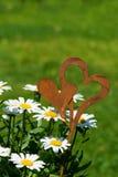 Bloemen met harten Stock Foto's
