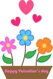 Bloemen met liefde Stock Afbeelding