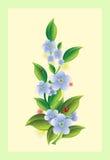 Bloemen met onzelieveheersbeestjes royalty-vrije illustratie