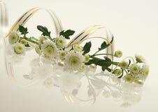Bloemen met perls stock afbeeldingen