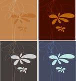 Bloemen minimalistic art. Stock Afbeeldingen