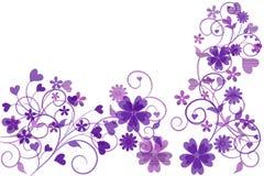 Bloemen motieven met ruimte voor tekst Stock Afbeeldingen