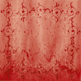 Bloemen motiv op oude pergament Royalty-vrije Stock Afbeelding