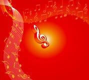 Bloemen muziek stock illustratie
