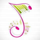 Bloemen Muzieknoot Royalty-vrije Stock Afbeelding