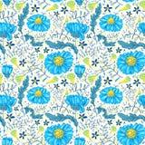 Bloemen naadloos Stock Afbeelding