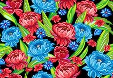 Bloemen naadloos Stock Afbeeldingen