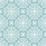 Bloemen naadloos barok patroondamast vector illustratie