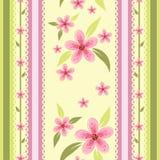 Bloemen naadloos behang Royalty-vrije Stock Afbeelding