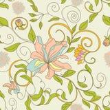Bloemen naadloos behang Royalty-vrije Stock Fotografie