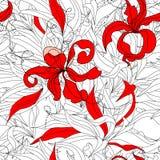 Bloemen naadloos behang Stock Foto