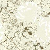 Bloemen naadloos behang Stock Foto's