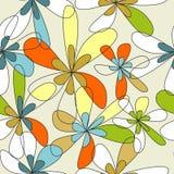 Bloemen naadloos behang Royalty-vrije Stock Foto