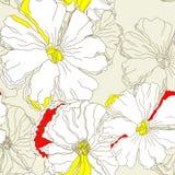 Bloemen naadloos behang Royalty-vrije Stock Afbeeldingen