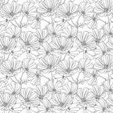 Bloemen naadloos behang Stock Afbeelding