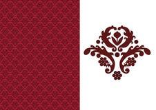 Bloemen naadloos behang-rood Royalty-vrije Stock Afbeeldingen