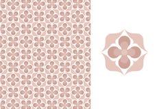Bloemen naadloos behang-roze Stock Afbeeldingen