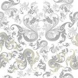 Bloemen naadloos behangpatroon met uitstekend ornament royalty-vrije illustratie