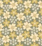 Bloemen naadloos betegeld patroon Royalty-vrije Stock Fotografie