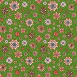 Bloemen naadloos etnisch bohopatroon Royalty-vrije Stock Fotografie