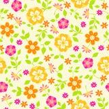 Bloemen Naadloos herhaalt de VectorIllustratie van het Patroon royalty-vrije illustratie