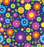Bloemen naadloos kleurenpatroon Royalty-vrije Stock Afbeeldingen