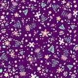In bloemen naadloos patroon Stock Afbeeldingen