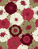 Bloemen naadloos patroon Royalty-vrije Stock Foto