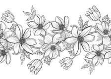 Bloemen naadloos patroon Stock Fotografie