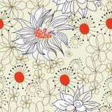 Bloemen naadloos patroon Royalty-vrije Stock Foto's