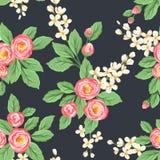 Bloemen naadloos patroon Stock Foto