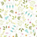 Bloemen naadloos patroon Stock Afbeeldingen