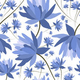 Bloemen naadloos patroon Royalty-vrije Stock Afbeeldingen