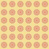 Bloemen naadloos patroon als achtergrond Royalty-vrije Stock Afbeeldingen