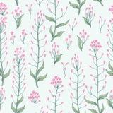 Bloemen naadloos patroon De achtergrond van de bloem Bloei behang w Stock Fotografie