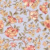 Bloemen naadloos patroon De achtergrond van de bloem Bloei tuintekst Royalty-vrije Stock Foto