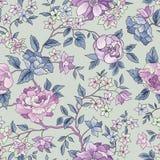 Bloemen naadloos patroon De achtergrond van de bloem Siertuinfl stock illustratie