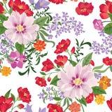 Bloemen naadloos patroon De achtergrond van de bloem Bloemen naadloze tekst Stock Foto