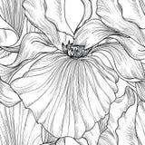 Bloemen naadloos patroon De gravureachtergrond van de bloemiris Royalty-vrije Stock Afbeeldingen